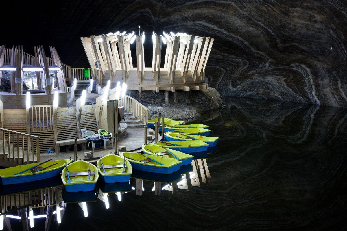 Boat in Salt Mine