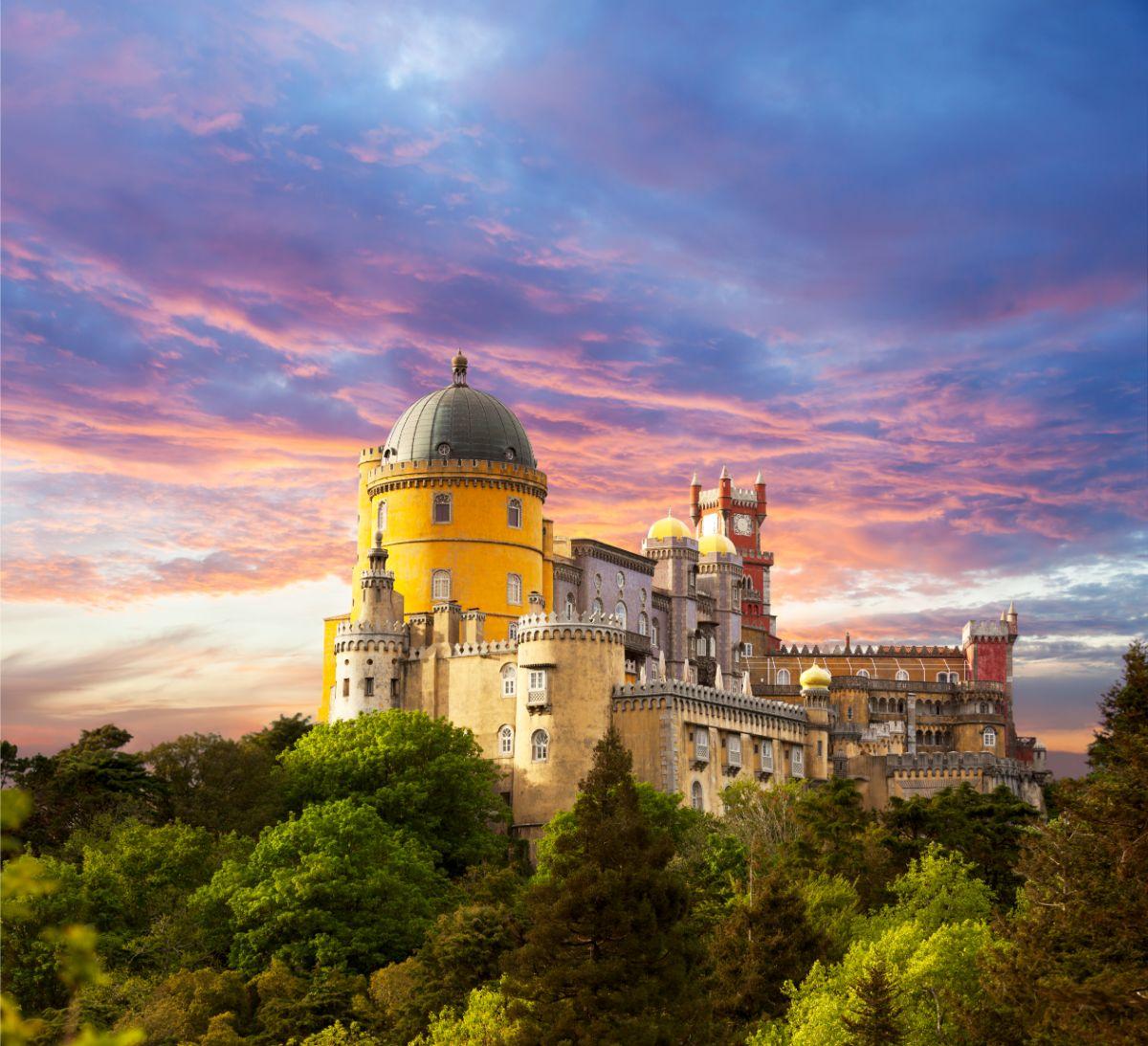 Pena Palace Sunset