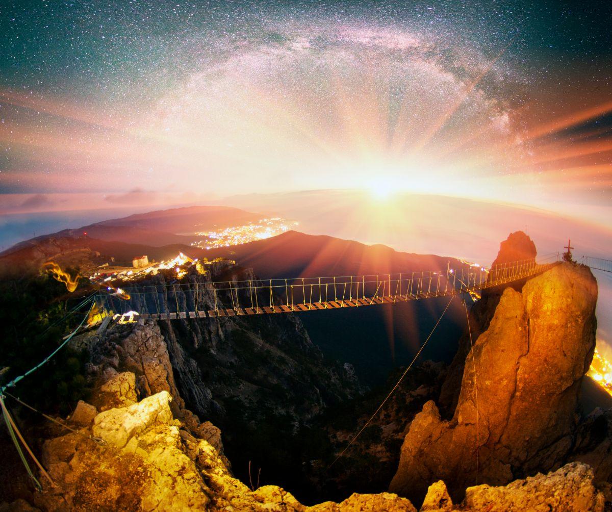 Sunrise Bridge Rocks